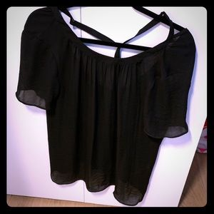 Sandro size small black silk blouse